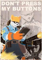 Arctic Fox TF2 Prop Poster by JayAxer