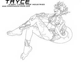 Tayce side pose by JayAxer