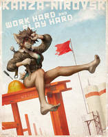 Kahza-Nirovsk Work Hard Play Hard Poster by JayAxer