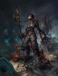 Subterraean Soldiers by JayAxer