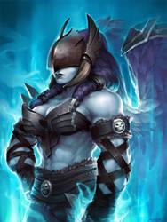 Hearthstone - Val'kyr Shadowguard by JayAxer