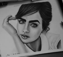 Lily Collins by anabdero