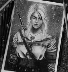 Ciri, The Witcher: Wild Hunt by anabdero