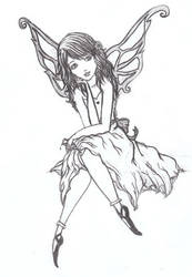 Wasted Fairy - uncoloured by essbeevee