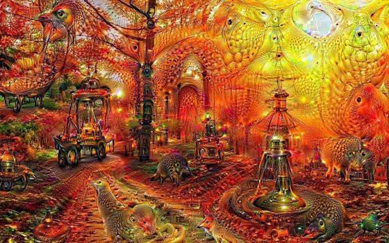DeepDream Orange 01 by Wildjaeger