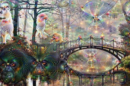 DeepDream Bridge 01 by Wildjaeger