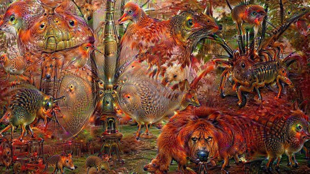 DeepDream Orange 03 by Wildjaeger
