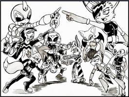 Team ChaosCroc vs Team Nicole by Demon-Keychain