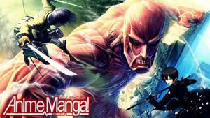 Eren ft Kirito VS Colossal Titan by Maou23