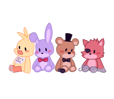 FNAF Plushies by tosshatiaz4