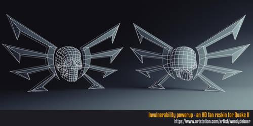 Invulnerability power-up wireframe by Wayuki