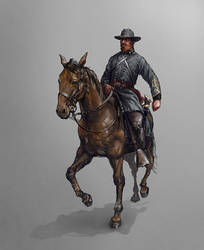 Confederate mounted officer by Skvor