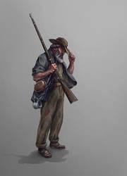 Confederate private by Skvor