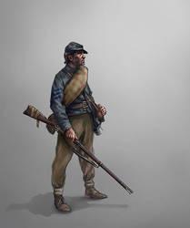 Confederate NCO by Skvor