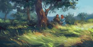 Under the Tree by Skvor