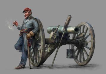 artillery captain by Skvor