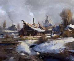 humble village by Skvor
