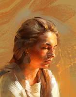 portrait, Violinist by Skvor