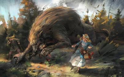 when the werewolves have their way by Skvor