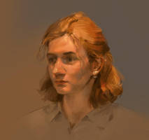 A girl from the book bounding by Skvor