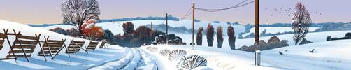 czech winter landscape by Skvor