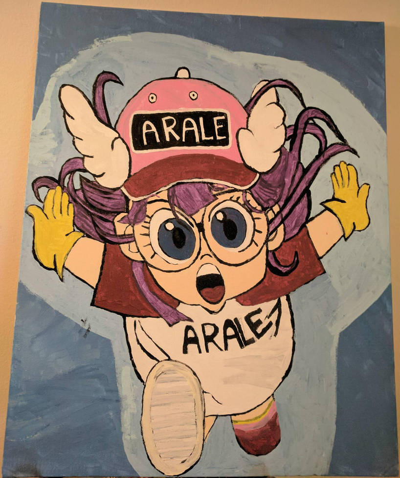 Arale Dragon Ball anime  by wiccagoth