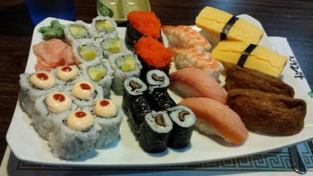 Sushi Dinner by SilverYoshi