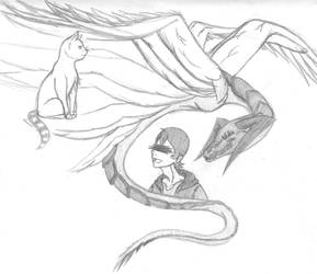 Son of Grima (pencil sketch) by blackrosedragon491
