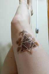Wood Triforce by Lally-Hime