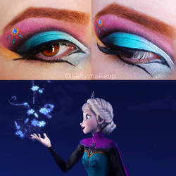 Elsa Makeup by Lally-Hime