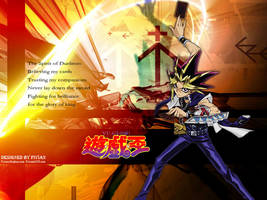 10th Anime Wallpaper - Yugi by Fivian