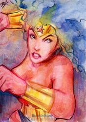 Wonder Woman Sketch Card 2 by Ethrendil