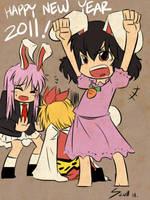 Happy Usa New Year 2011 by MARKCW