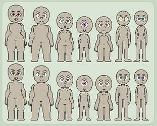 Steven Universe|Body Type Base| by Quasiii