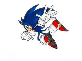 Sonic The Hedgehog by AlexHatzia