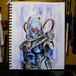 Inktober 2016 Day 24 - Mr.Freeze by Dr-Carrot