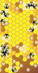 Honey Comb Background by MissE11aneous