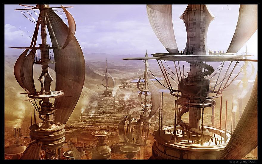 Wind towers by gregmks