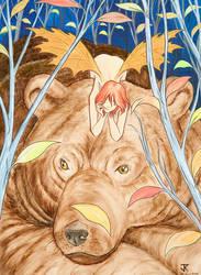 Pixie and Bear by RisingDragonArt