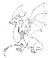 Dragon Rider Lineart by RisingDragonArt