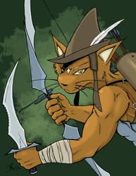 Catfolk Archer by RisingDragonArt