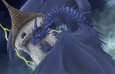 Blue Dragon by RisingDragonArt