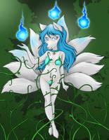 Kitsune Magic by RisingDragonArt