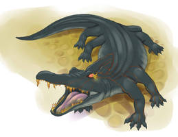 Aaadeem-Sahreah (Great Lizard) by RisingDragonArt