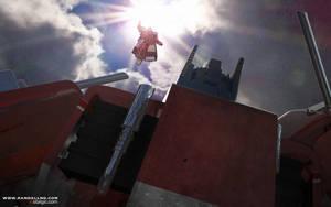Optimus VS Megatron by Vostalgic