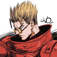 Digital Sketch Warm Up 02 - Vash the Stampede by Vostalgic