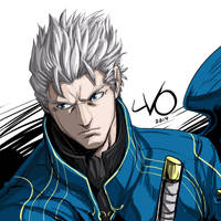 Digital Sketch Warm Up 04 - Vergil by Vostalgic