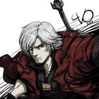 Digital Sketch Warm up -16 Dante by Vostalgic