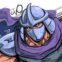 Digital Sketch Warm up 34 - Shredder by Vostalgic