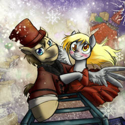 Doctor Whooves- The Snowmen by JitterbugJive